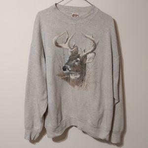 Other - Vintage Fruit Of The Loom deer crewneck